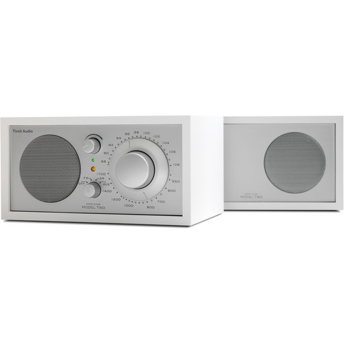 Tivoli Model Two AM/FM Stereo Table Radio (White and Silver)