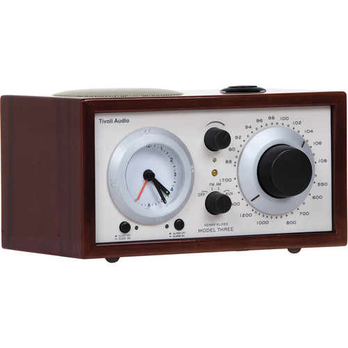 Tivoli Platinum Series Model Three AM/FM Clock Radio (Dark Walnut/Beige)