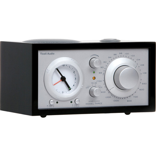 Tivoli Platinum Series Model Three AM/FM Clock Radio (Piano Black/Silver)