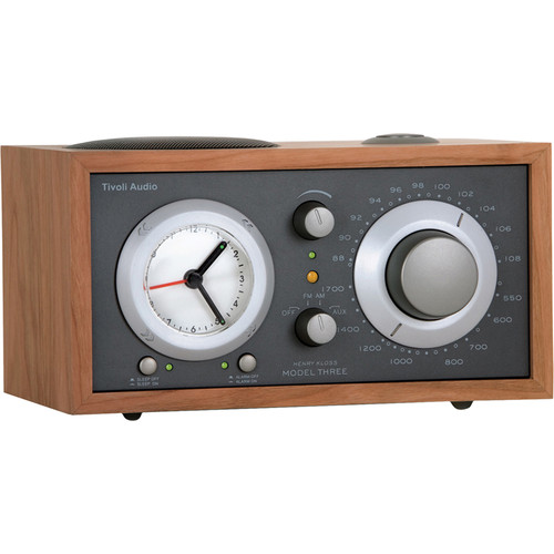 Tivoli Model Three AM/FM Clock Radio (Metallic Taupe/Cherry)