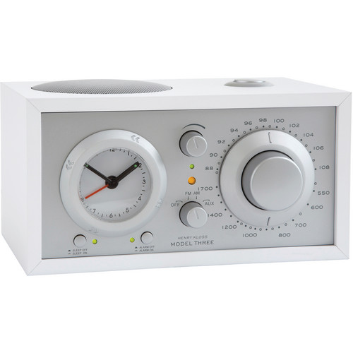 Tivoli Model Three AM/FM Clock Radio (Silver/White)