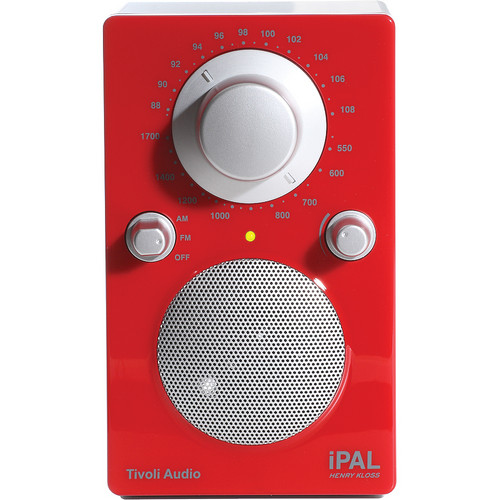 Tivoli iPAL Portable Radio (High Gloss Red)