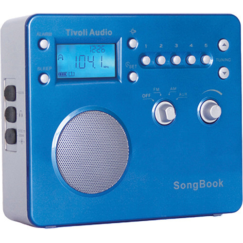 Tivoli SongBook AM/FM Travel Radio (High Gloss Blue)