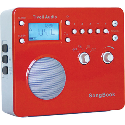 Tivoli SongBook AM/FM Travel Radio (High Gloss Red)