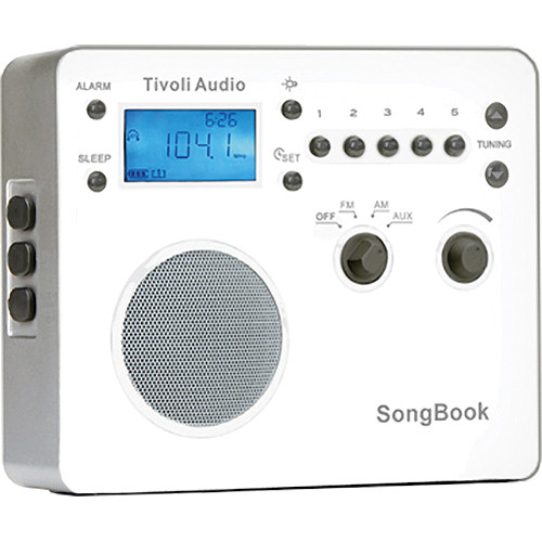 Tivoli SongBook AM/FM Travel Radio (High Gloss White)
