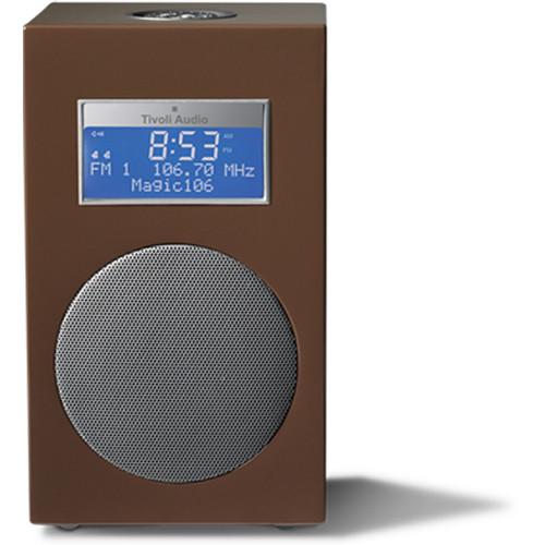 Tivoli Model 10 Clock Radio -Designer Collection (Brown / Silver)