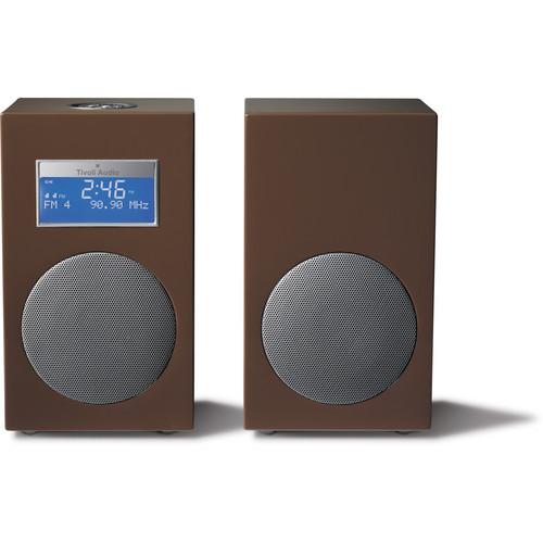 Tivoli Model 10 AM/FM Stereo Clock Radio - Contemporary Collection (Brown / Silver)