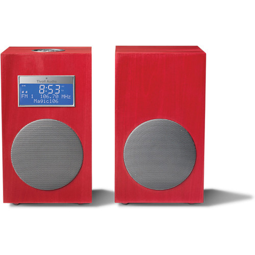 Tivoli Model 10 AM/FM Stereo Clock Radio - Contemporary Collection (Carmine Red / Silver)