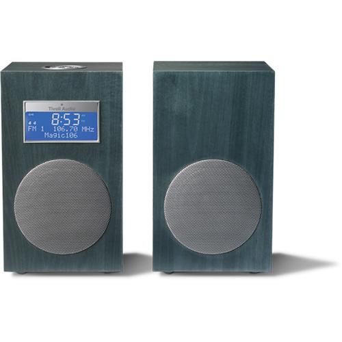 Tivoli Model 10 AM/FM Stereo Clock Radio - Contemporary Collection (Ocean Blue / Silver)