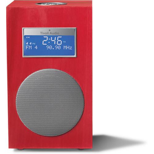 Tivoli Model 10 Clock Radio - Contemporary Collection (Carmine Red / Silver)