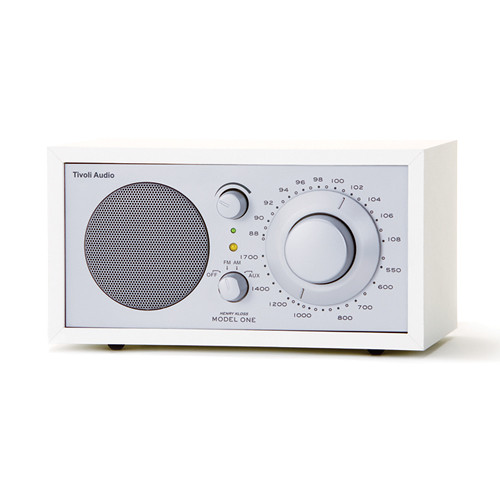 Tivoli Model One Bluetooth AM/FM Radio (White/Silver)