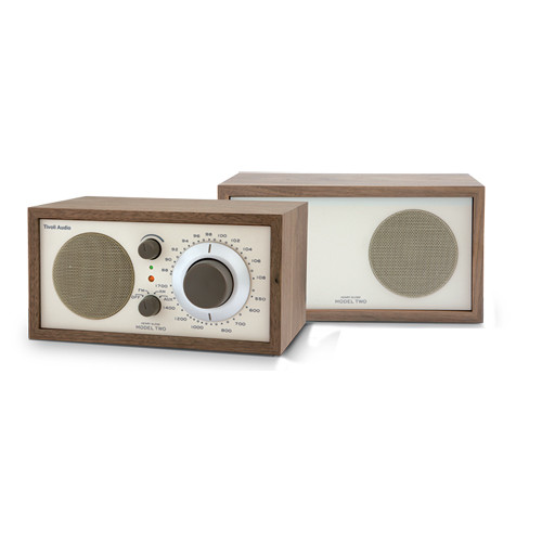 Tivoli Model Two AM/FM Stereo Table Radio (Walnut and Beige)