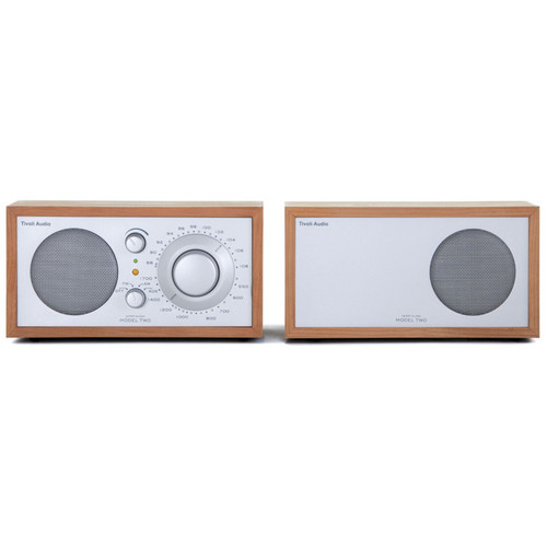 Tivoli Model Two AM/FM Stereo Table Radio (Cherry and Silver)