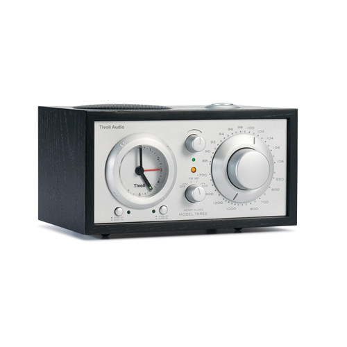 Tivoli Model Three AM/FM Clock Radio (Black/Silver)