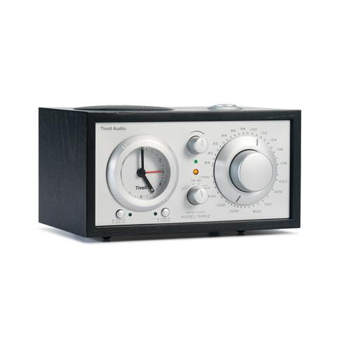 Tivoli Model Three AM/FM Clock Radio (Black/Silver)