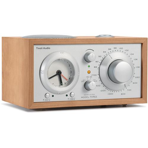 Tivoli Model Three AM/FM Clock Radio (Cherry/Silver)