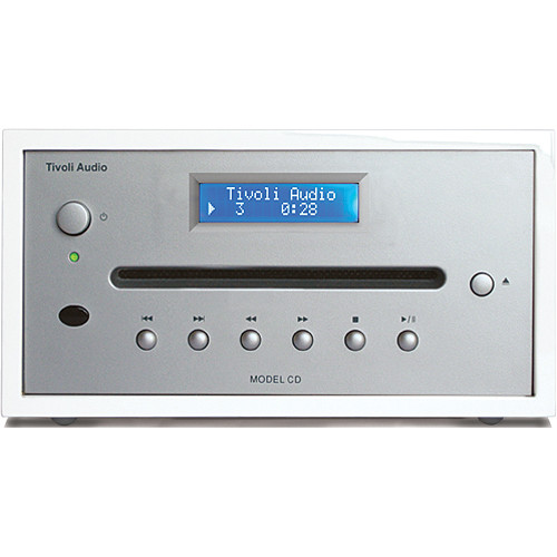 Tivoli Frost White Collection Model CD Player (Frost White/Silver)