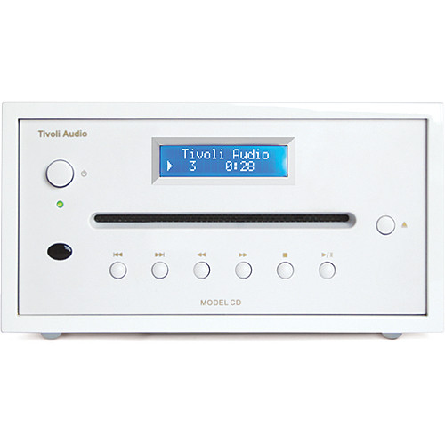 Tivoli Frost White Collection Model CD Player (Frost White/White)