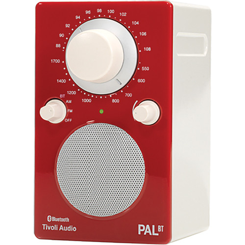 Tivoli PAL BT Bluetooth Portable Radio (Glossy Red / White)