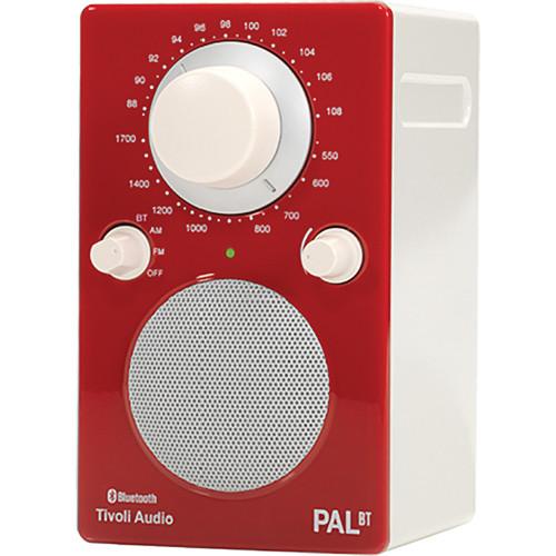 Tivoli PAL BT Bluetooth Portable Radio (Glossy Red / White)