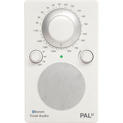 Tivoli PAL BT Bluetooth Portable Radio (Glossy White / White)