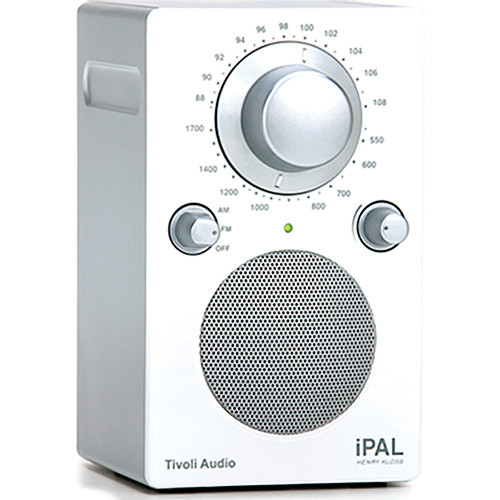 Tivoli iPAL Portable Radio (High Gloss White / Silver)