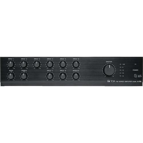 Toa Electronics A-706 - 9-Channel, 60 Watt Mixer/Amplifier