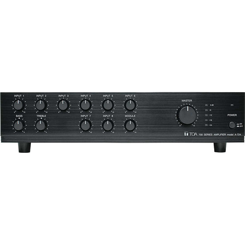 Toa Electronics A-724 - 9-Channel, 240 Watt Mixer/Amplifier