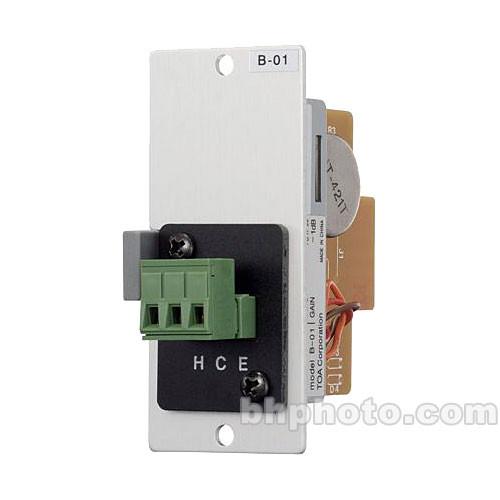 Toa Electronics B-01S - Line Level Terminal Block Input Module for 900 Series Amplifiers