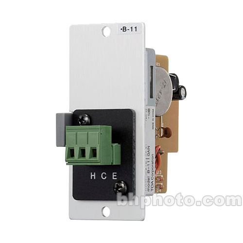 Toa Electronics B-11S - Line Level Terminal Block Input Module with Mute-Receive