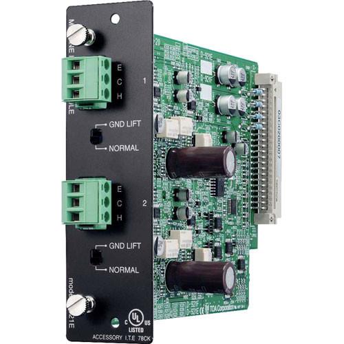 Toa Electronics D-921E - 2 x Mic/Line 24-Bit Input Module for D-901 and DP-K1 (Phoenix)