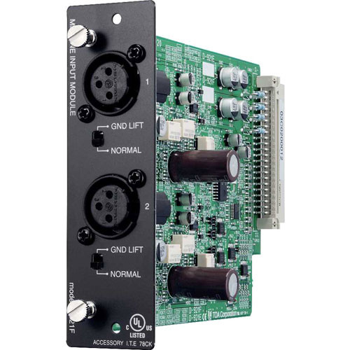 Toa Electronics D-921F - 2 x Mic/Line 24-Bit Input Module for D-901 and DP-K1 (XLR-F)