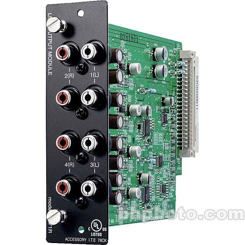 Toa Electronics D-971R - 4 x Unbalanced Line Output Module for D-901 and DP-K1 (RCA-F)