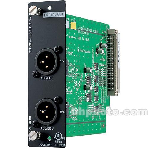 Toa Electronics D-972AE - 4 x Digital Output Module (AES/EBU)