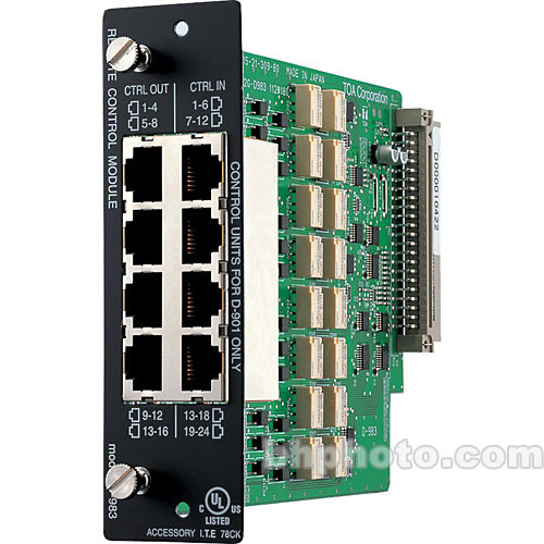 Toa Electronics D-983 - 24/16 I/O Remote Control Module