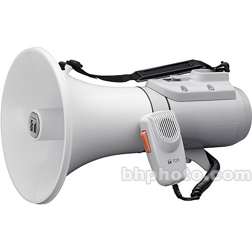 Toa Electronics ER-2215 15W Shoulder-Held Megaphone with Detachable Microphone (Gray)