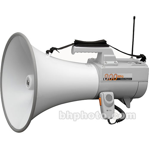 Toa Electronics ER-2930W 30W Shoulder-Held Megaphone with Whistle & Built-In Wireless Mic Receiver (Gray)