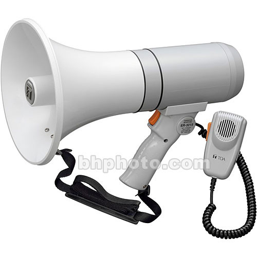 Toa Electronics ER-3215 15W Handheld Megaphone with Detachable Microphone (Gray)
