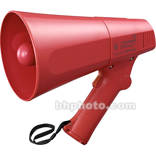 Toa Electronics ER-520S 6W Compact Handheld Megaphone with Siren (Red)