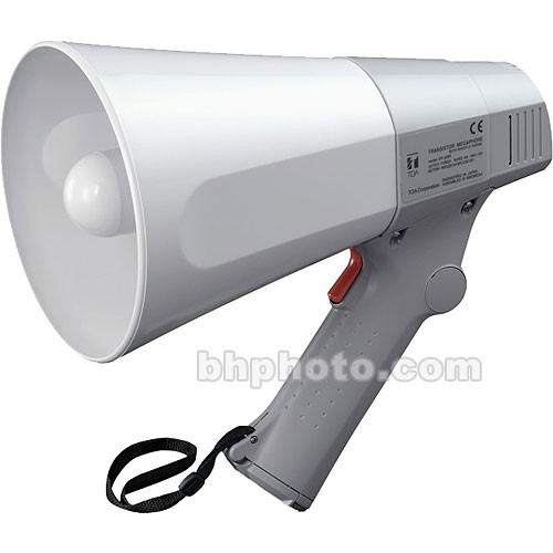 Toa Electronics ER-520 W- 10-Watt Hand Grip Megaphone with Whistle