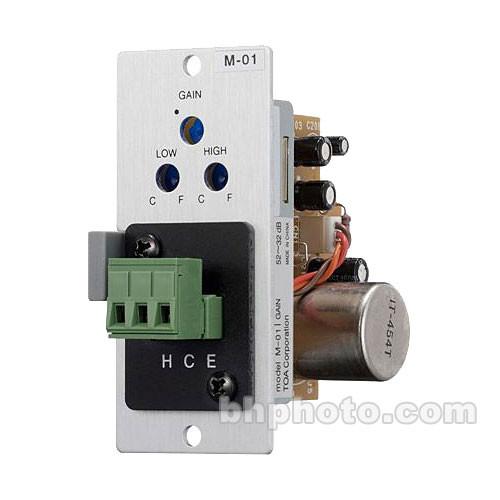 "Toa Electronics M-01P - Microphone Input Module (1/4"" Phone Jack)"