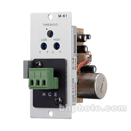 Toa Electronics M-61F - Microphone Input Module with Compressor for 900 Series Amplifiers (XLR-F)