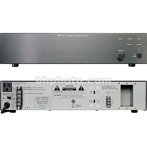 Toa Electronics P-906MK2 60 Watt Single-Channel Modular Power Amplifier