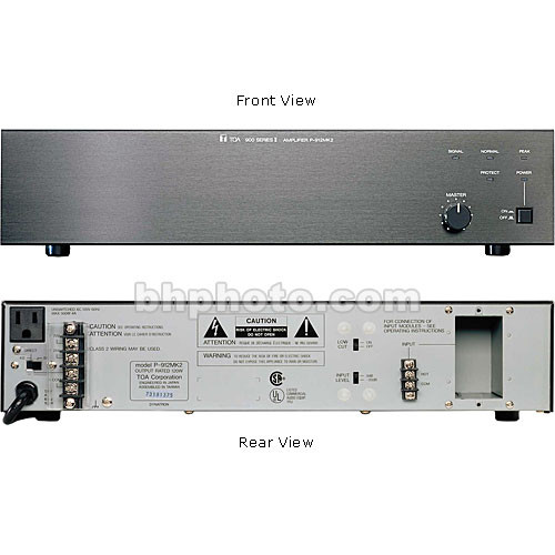 Toa Electronics P-912MK2 120 Watt Single-Channel Modular Power Amplifier