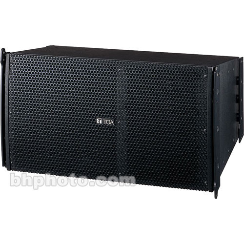 Toa Electronics SRA12S Mid-Sized Line Array Speakers (Black)