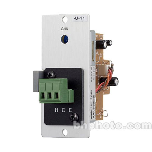 Toa Electronics U-11S - Unbalanced Line Input w/ Mute-Receive (Removable Terminal Block)