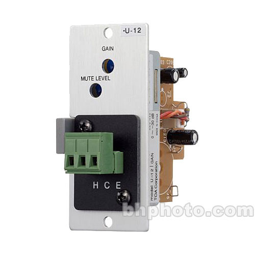 Toa Electronics U-12S - Unbalanced Line Level Input Module with Variable Mute-Receive (Removable Terminal Block)