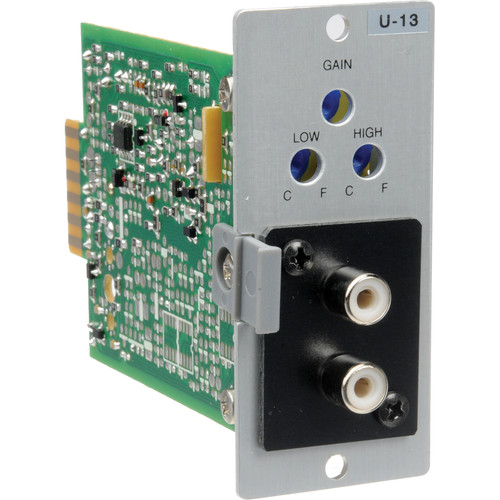 Toa Electronics U-13R - Unbalanced Line Input Module with High/Low Cut Filters and Mute-Receive for 900 Series (Dual RCA)