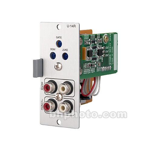 Toa Electronics U-14R - Dual Input Priority Module with Automatic Gain Control (Dual Stereo RCA)