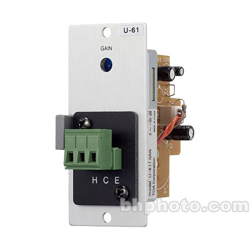Toa Electronics U-61S - Unbalanced Line-Level Input w/ Compressor (Terminal Block)
